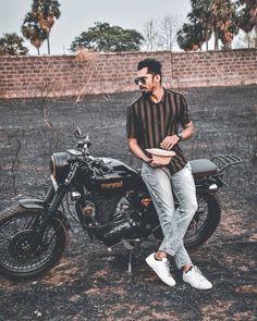 Bike Photoshoot, Royal Enfield Bullet, Boy Photography Poses, Motorcycle Bike, Shiva, Style, Fashion, Swag, Moda