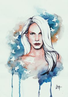 Lana by tuneuswatune, watercolor on paper