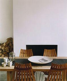 Simple Fireplace + Wood Storage