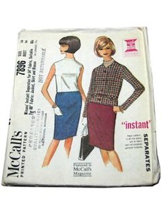 Womens Vintage 60s Suit Patterns at RustyZipper.Com Vintage Clothing