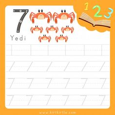 Worksheet writing practice number nine animal Arabic Alphabet Letters, Number Tracing, Preschool Math, Writing Practice, Infographic Templates, Worksheets, Teaching, Education, Montessori