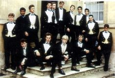 Darius Guppy, back row, fourth from right, was a member of the notorious Bullingdon Club at Oxford University with Boris Johnson, centre front