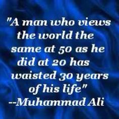well I sure hope Muhammad Ali didn't spell wasted wrong.
