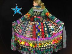 RESERVED FOR KATIE -- MeDiUm - EXTRA LONG gypsy traveling coat made from repurposed reconstructed sweaters