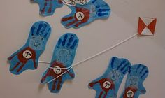 Dr. Seuss Thing 1 and 2 handprints