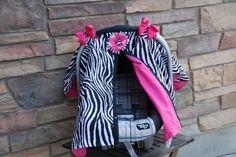 Zebra Carseat canopy by SooShabbyChic on Etsy, $34.99
