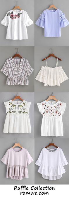 Cute Ruffle Tops from romwe.com