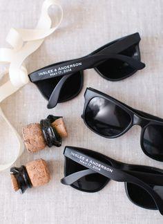 custom sunglasses favors | Kate Headley