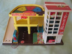 Fisher Price parking garage #retro #toys