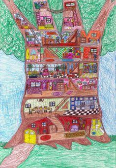"""Tree House"" by Andrea Nan Fantasiesandfountainpens.blogspot.com"