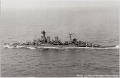 HMS Hood two days before confronting Bismarck, May 1941.  Battlecruisers were conceived to rid trade routes of enemy cruisers, having more speed than battleships but less armour.  No more were laid down after Jutland, when 3 were lost, but Hood was nearly complete.  25 years later the flaws in the concept were exposed once more.
