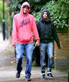 Twinsies! Ashton Kutcher and Mila Kunis wore matching hoodies!