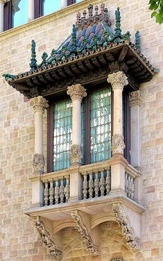 Casa Serra by Josep Puig i Cadafalch, Barcelona - Photographer Arnim Schulz Beautiful Architecture, Beautiful Buildings, Art And Architecture, Architecture Details, Architectural Features, Architectural Elements, Gaudi, Balcon Juliette, Motifs Art Nouveau
