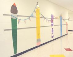 mrspicasso's art room: Hallway Decor  Workshop of Wonders VBS Decorations