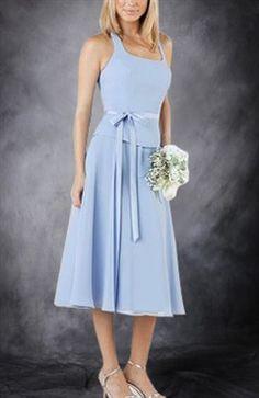 Sashes/ Ribbons Chiffon Knee-length Blues Bridesmaid Dresses - Bridesmaid Dresses - OuterInner.com