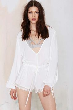 Free Fallin' Plunging Romper | Shop Clothes at Nasty Gal!