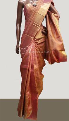 Peach Bridal Sari