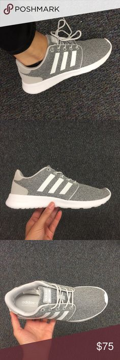 !!NEW!!! make offer!! WOMENS ADIDAS QT RACER!!! Brand new in Original Box!!! Super stylish Adidas Cloudfoam, with very comfortable sole. Perfect for running, cross training and casual style. Perfect grey color!! Goes with everything! (No trades) adidas Sh
