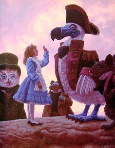 Alice in Wonderland  Alice and the Dodo Bird  di mysunshinevintage, $10.00