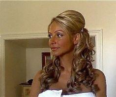 Wedding hair half up side