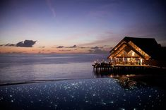 On the Maldive islands...I think this would be worth the flight.