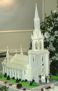 The Marbel Church North Wales UK by Wedding Cakes Liverpool (2/21/2013)  View details here: http://cakesdecor.com/cakes/49474