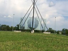 Another view of the monument to hops in the roundabout near Prebold, Slovenia.  Yes, we were driving around and around to get these pictures.  Picture taken in May 2014 during a trip by 47Hops to the region.
