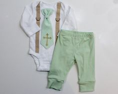 Baby Boy Baptism Outfit boys church clothes by CuddleSleepDream