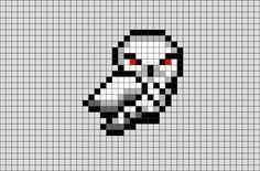 Harry Potter Hedwig Pixel Art from BrikBook.com #HarryPotter #Owl #Hedwig #SnowyOwl #pet #pixel #pixelart #8bit Shop more designs at http://www.brikbook.com