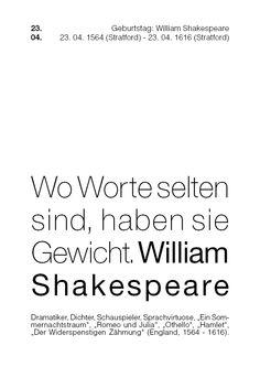 Wo Worte selten sind, haben sie Gewicht. *William Shakespeare @cinderella83
