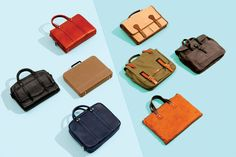 The briefcase is back. Here are eight options that work with a tailored suit or jeans and a sport coat. Eight, Mini Bag, Shoulder Strap, Satchel, Stylish, Briefcases, Bags, Accessories, Doll