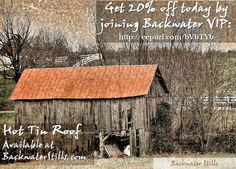 The 2016 Barn Collection is available at Backwaterstills.com #backwaterstills #barntherapy #redroof #countrylife #barnart