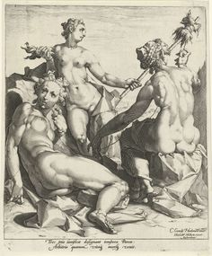 Drie schikgodinnen, Jan Harmensz. Muller, 1587