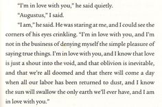 The fault in our stars #SPOILERALERT