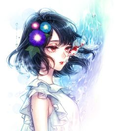 Pinterest Anime Girl Short Hair, Anime Art Girl, Anime Girls, Character Inspiration, Character Art, Anime Galaxy, Design Comics, Painting Of Girl, Girl Paintings