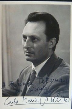 Foto autografo Carlo Maria Giulini Dir. Orchestra 1953 it.picclick.com