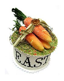 bethany lowe carrots | Wendy addison Original Glittered Carrots on Box