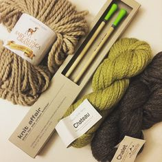 photo by @uglycookies Thanks @knitaffair for these luxe lime needles!