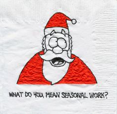 Job Fair  Christmas Napkin-y Countdown... 14