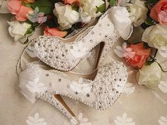 Luxurious Pearls Beading Lace 2015 Wedding Shoes White 14 Cm High Heels 4 Cm Platform Formal Evening Prom Bridal Shoes Mg06 Kids Bridal Shoes Leather Wedding Shoes From Maggiebridal, $48.17| Dhgate.Com