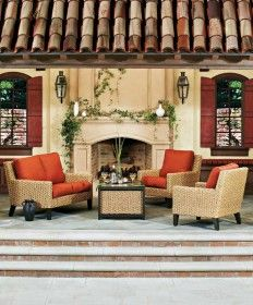 The Mona Deep Seating Collection from Whitecraft by Woodard is stylish and sophisticated; ideal for an upscale outdoor living area. Outdoor Seating, Outdoor Dining, Outdoor Decor, Wicker Patio Furniture, Outdoor Furniture Sets, Furniture Ideas, Outdoor Living Areas, Outdoor Rooms, End Tables With Drawers
