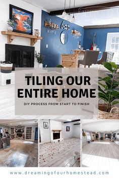 The DIY process from start to finish on how we used a wood tile flooring throughout our entire home. Modern Farmhouse, Farmhouse Decor, Bar Tile, Floor Plan Layout, Wood Tile Floors, Diy Home Repair, House Floor Plans, Exterior Design, Layout Design