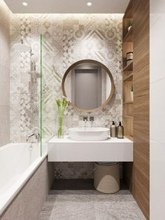 Perhaps you are in search of small bathroom design ideas. If so, make sure to look through our pick of very small bathroom ideas! Very Small Bathroom, Modern Bathroom Design, Bathroom Interior Design, Bathroom Designs, Bathroom Color Schemes, Bathroom Colors, Bathroom Ideas, Beige Bathroom, Mirror Bathroom