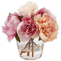 Found it at Wayfair - Peony in Glass Vase
