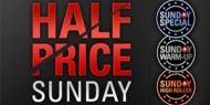 Dimanche 1er juin, profitez de la promotion Half Price Sunday qui vous permet de jouer tous les grands tournois du dimanche avec des buy-ins à moitié prix alors que les dotations garanties restent les mêmes http://www.kalipoker-fr.com/bonus-et-promotions/tournois-a-moitie-prix-ce-dimanche-sur-pokerstars.html