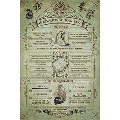 "Harry Potter Poster, Hoch, 61 x 91,5 cm ""Hogwarts School List"" • Große Auswahl • EMP"