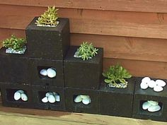 Planters Made from Cinderblocks | DIY Home Decor and Decorating Ideas | DIY