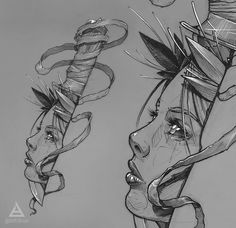 Beauty/knife sketch by Tattoo Sketches, Tattoo Drawings, Body Art Tattoos, Art Sketches, Sleeve Tattoos, Knife Tattoo, Dagger Tattoo, Tattoo Studio, Karma Tattoo