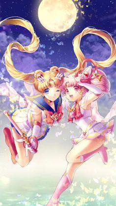 Sailor Moon and Sailor Chibi Moon