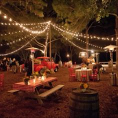Outdoor lighting idea for dance/gathering area